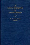 A Crtitical Bibliography of French Literature V2 16th C