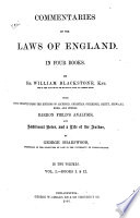 Commentaries on the Laws of England  : In Four Books , Band 1