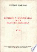 Hombres y documentos de la filosofía española