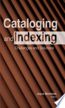 Cataloging And Indexing Book PDF