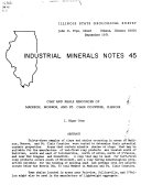 Illinois Mineral Industry in 1972