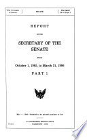 Report of the Secretary of the Senate from     Book