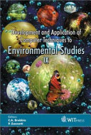 Development and Application of Computer Techniques to Environmental Studies