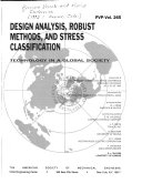 Design Analysis  Robust Methods  and Stress Classification
