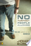 No Perfect People Allowed Book