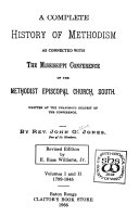 A Complete History of Methodism as Connected with the Mississippi Conference of the Methodist Episcopal Church  South  1799 1845 Book