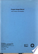 Program Budget Manual