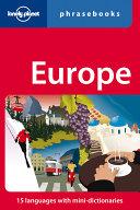 Europe Phrasebook