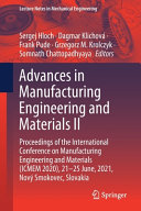 Advances in Manufacturing Engineering and Materials II Book