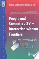 People and Computers XV — Interaction without Frontiers