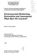 Environmental Monitoring, Restoration, and Assessment