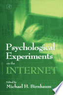 Psychological Experiments on the Internet Book
