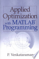 Applied Optimization With Matlab Programming Book PDF