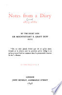 Notes from a Diary