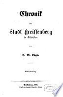 Chronik der Stadt Greiffenberg in Schlesien