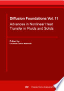 Advances in Nonlinear Heat Transfer in Fluids and Solids
