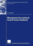 Management Accounting   Control Scales Handbook Book