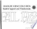 Graduate Science Education Student Support and Postdoctorals
