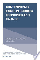 Contemporary Issues in Business, Economics and Finance