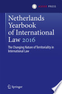 Netherlands Yearbook Of International Law 2016