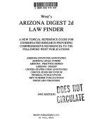 Pdf West's Arizona Digest 2d Law Finder