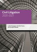 Civil Litigation 2020 2021