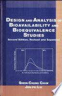 Design And Analysis Of Bioavailability And Bioequivalence Studies Second Edition