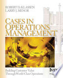 Cases in Operations Management Book
