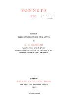 Sonnets Etc