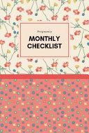 Pregnancy Monthly Checklist Book