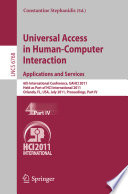 Universal Access in Human Computer Interaction  Applications and Services Book