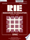 """Resources in Education"" by National Institute of Education (U.S.), Educational Resources Information Center (U.S.), National Library of Education (U.S.)"