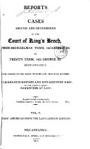 Reports of Cases Argued and Determined in the Court of ...