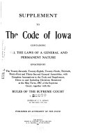 Supplement To The Code Of Iowa
