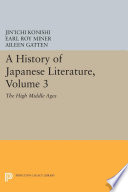 A History of Japanese Literature  Volume 3