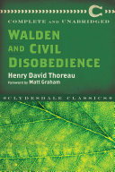 Pdf Walden and Civil Disobedience Telecharger
