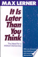 It is Later Than You Think Book