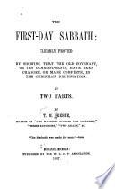 The First day Sabbath