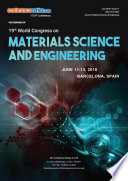 Proceedings of 19th World Congress on Materials Science and Engineering 2018 Book