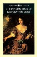 The Penguin Book of Restoration Verse