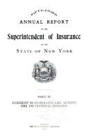 Annual Report of the Superintendent of Insurance