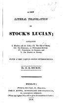 Pdf A New Literal Translation of Stock's [select Dialogues Of] Lucian. ... With a Few Notes. By D. B. Hickie