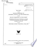 Report of the Senate Committee on Commerce, Science, and Transportation to the Senate Committee on the Budget