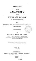 Elements of the Anatomy of the Human Body in Its Sound State