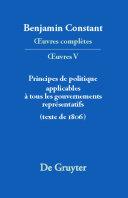 Pdf Principes de politique applicables à tous les gouvernements représentatifs Telecharger