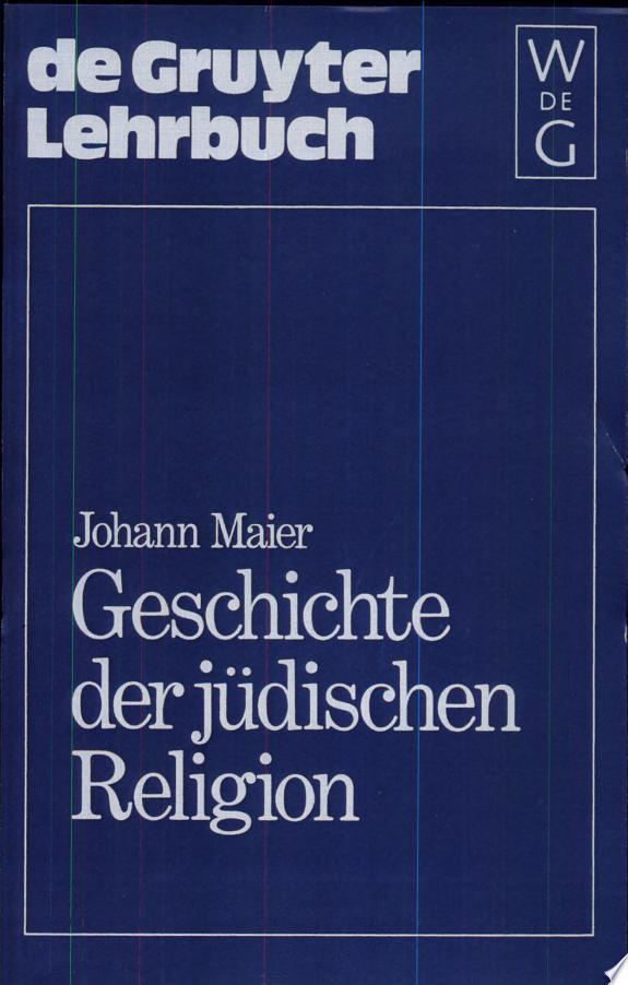 Geschichte der jüdischen Religion
