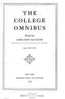 The 1936 College Omnibus ebook