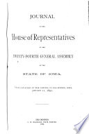 Journal of the House of Representatives of the     Regular Session of the General Assembly of the State of Iowa Book