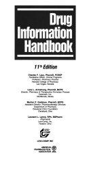 Drug Information Handbook Book PDF