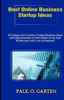Best Online Business Startup Ideas